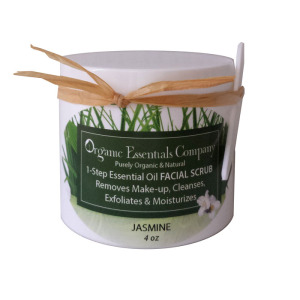 Facial Scrub with Jasmine Essential Oil