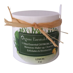 Facial Scrub with Lemon Essential Oil