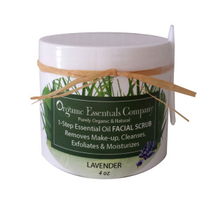 Facial Scrub with Lavender Essential Oil