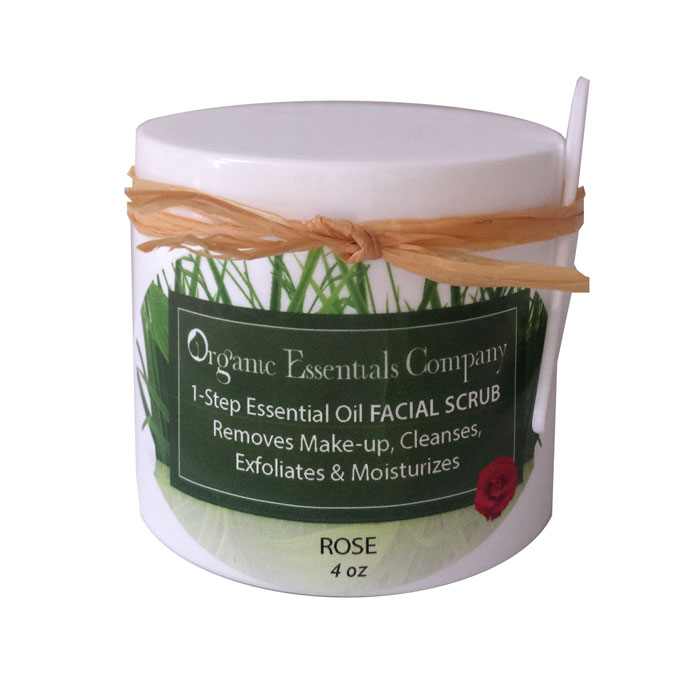 Facial Scrub with Rose Essential Oil