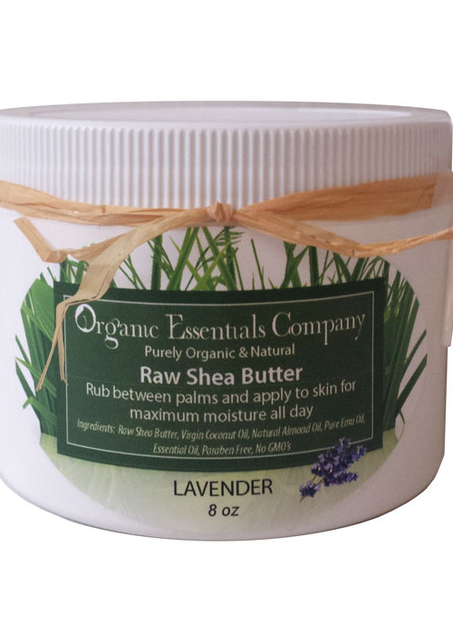 Raw Shea Body Butter with Lavender 8 oz.