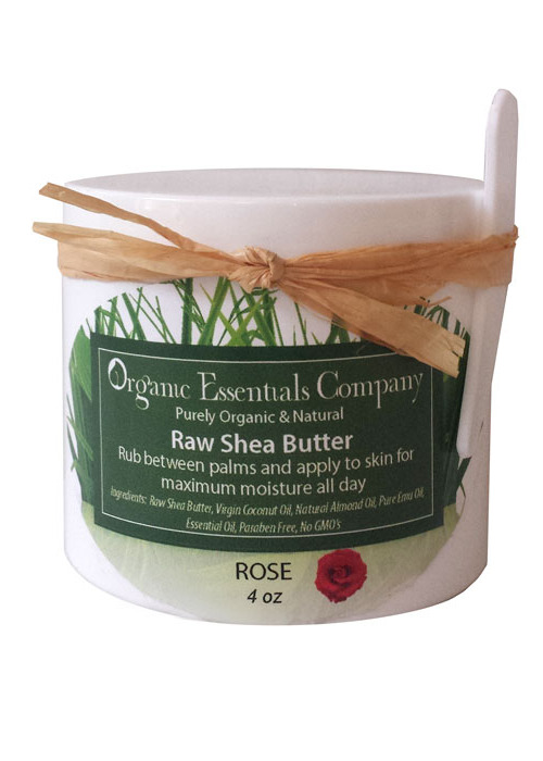 Raw Shea Body Butter with Rose 4 oz.
