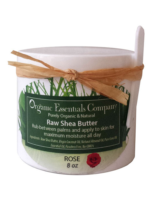 Raw Shea Body Butter with Rose 8 oz.
