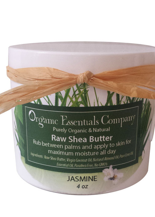 Raw Shea Body Butter with Jasmine 4 oz.
